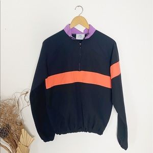 Vintage Baja Beach 80s Windbreak Pullover 1/4 Zip